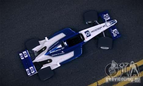BMW Williams F1 для GTA San Andreas вид сзади слева