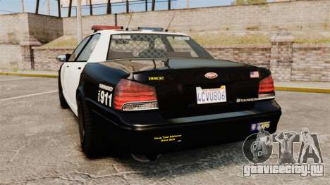 GTA V Police Cruiser [ELS] для GTA 4 вид сзади слева