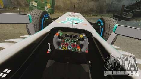 Mercedes AMG F1 W04 v5 для GTA 4 вид изнутри