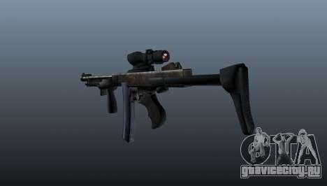 Пистолет-пулемёт Thompson 2009 для GTA 4 второй скриншот