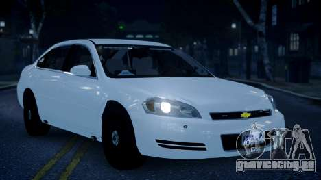 Chevy Impala Unmarked 2010 для GTA 4