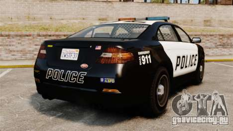 GTA V Vapid Police Interceptor для GTA 4 вид сзади слева