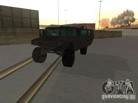 Hummer H1 из игры Resident Evil 5 для GTA San Andreas вид изнутри