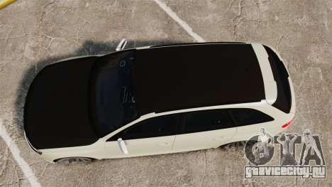 Audi RS4 Avant VVS-CV4 2013 для GTA 4 вид справа