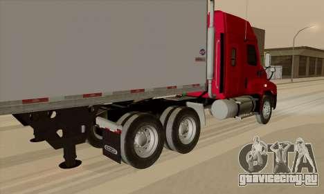 Freghtliner Cascadia для GTA San Andreas вид сзади слева