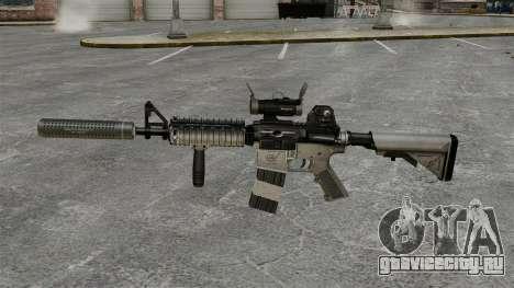 Автомат M4 с глушителем v2 для GTA 4