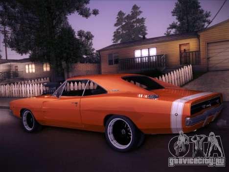 Dodge Charger RT V2 для GTA San Andreas вид сзади слева
