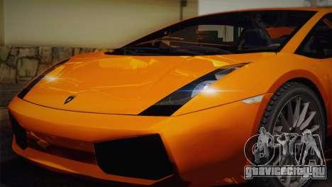 Lamborghini Gallardo Superleggera для GTA San Andreas двигатель