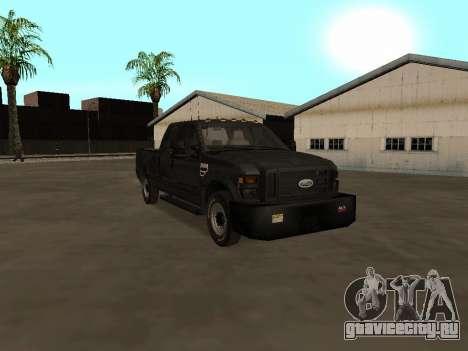 Ford F-350 ATTF для GTA San Andreas вид сзади