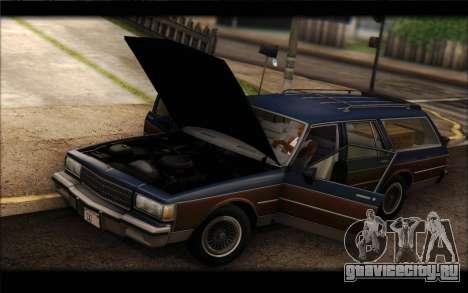 Chevrolet Caprice 1989 Station Wagon для GTA San Andreas вид сзади слева