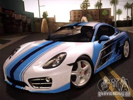 Porsche Cayman S 2014 для GTA San Andreas вид сбоку