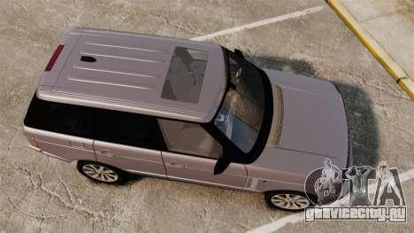 Range Rover Supercharged для GTA 4 вид справа