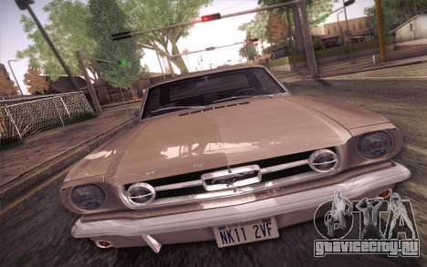 Ford Mustang GT 289 Hardtop Coupe 1965 для GTA San Andreas вид изнутри