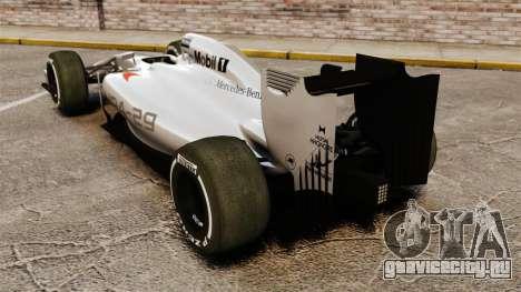 McLaren MP4-29 для GTA 4 вид сзади слева