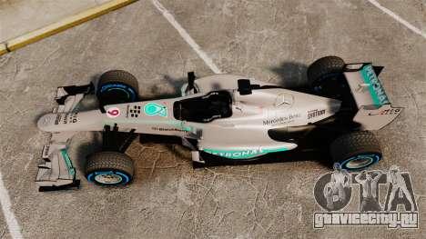Mercedes AMG F1 W04 v2 для GTA 4 вид справа