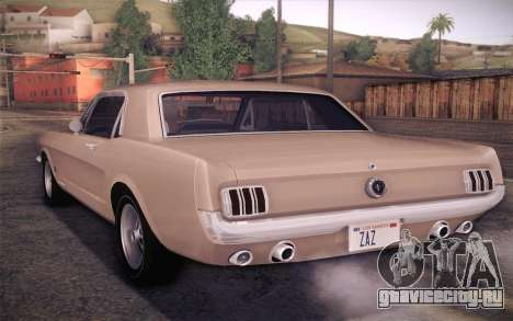 Ford Mustang GT 289 Hardtop Coupe 1965 для GTA San Andreas вид слева