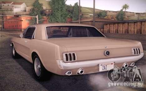 Ford Mustang GT 289 Hardtop Coupe 1965 для GTA San Andreas вид слева