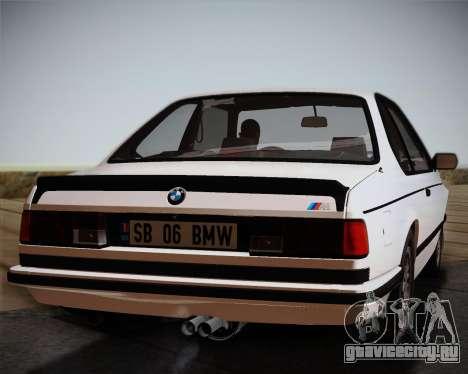 BMW E24 M635 1984 для GTA San Andreas вид сзади