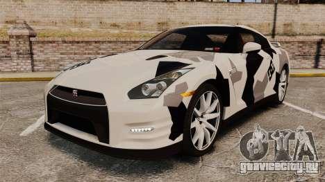 Nissan GT-R Black Edition 2012 Ski Slope Camo для GTA 4