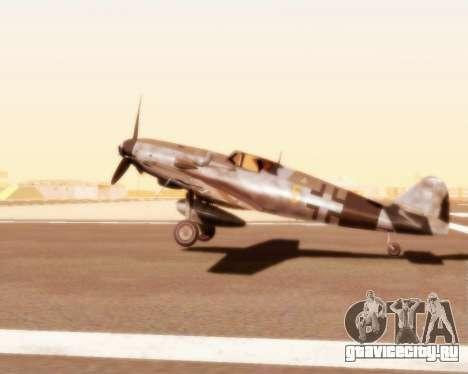 Bf-109 G10 для GTA San Andreas вид справа