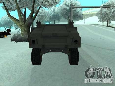 Hummer H1 из игры Resident Evil 5 для GTA San Andreas вид сзади