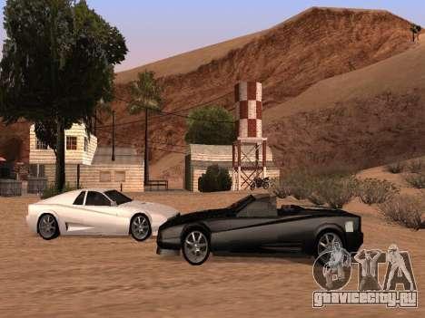 Сheetah Restyle для GTA San Andreas вид изнутри