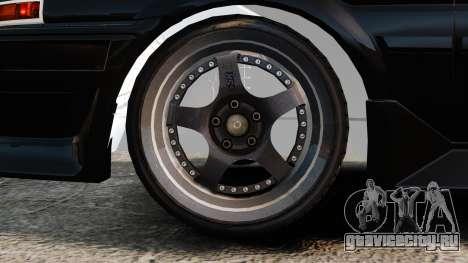Toyota Sprinter Trueno AE86 Drifting для GTA 4 вид сзади