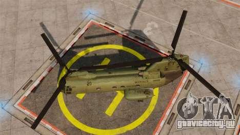 Boeing CH-46D Sea Knight для GTA 4 вид справа