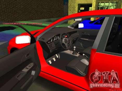 Mitsubishi Lancer Evo VIII для GTA San Andreas вид слева