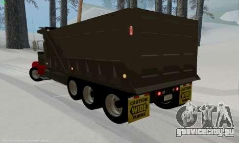 Peterbilt 379 Dump Truck для GTA San Andreas вид сзади слева