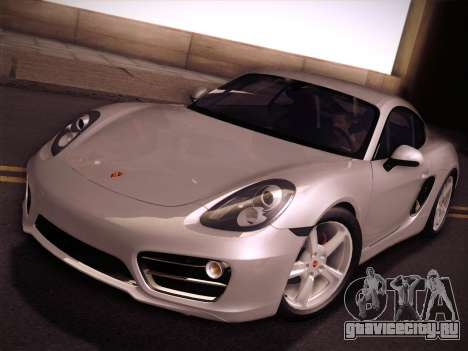 Porsche Cayman S 2014 для GTA San Andreas вид изнутри