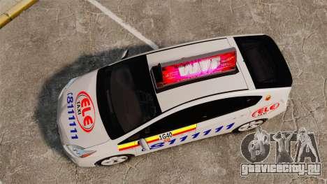 Toyota Prius 2011 Warsaw Taxi v3 для GTA 4 вид справа