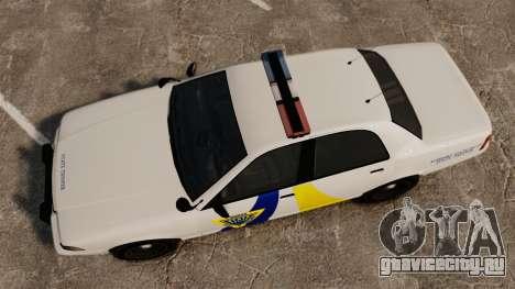GTA V Police Vapid Cruiser Alderney state для GTA 4 вид справа
