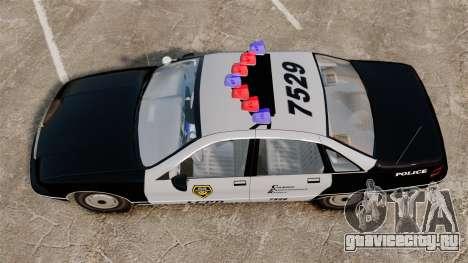 Chevrolet Caprice Police 1991 v2.0 LCPD для GTA 4 вид справа
