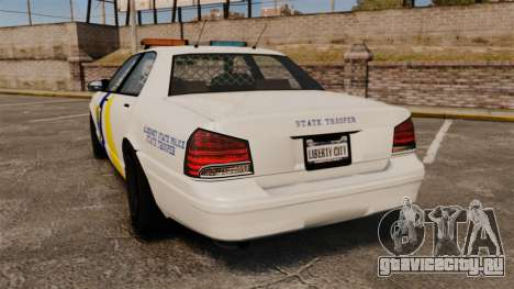 GTA V Police Vapid Cruiser Alderney state для GTA 4 вид сзади слева