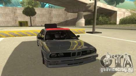 BMW E30 1991 для GTA San Andreas вид слева