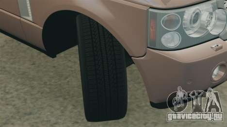 Range Rover Supercharged для GTA 4 вид сбоку