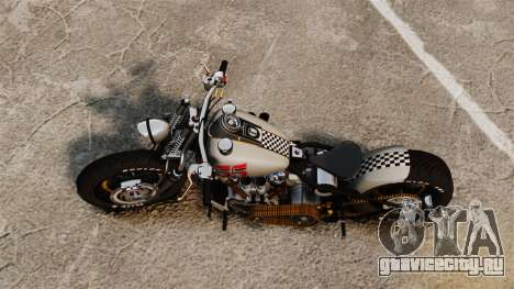 Harley-Davidson Knucklehead v1 для GTA 4 вид сзади слева