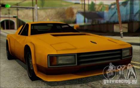 VC Cheetah для GTA San Andreas вид сзади слева