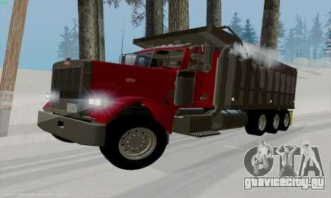 Peterbilt 379 Dump Truck для GTA San Andreas вид слева