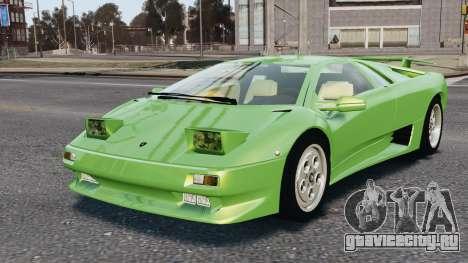 Lamborghini Diablo VT 1994 для GTA 4 вид снизу