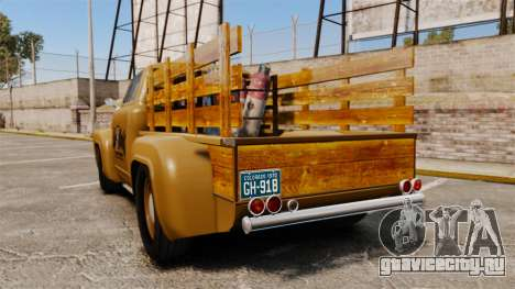 Hot Rod Truck Gas Monkey для GTA 4 вид сзади слева