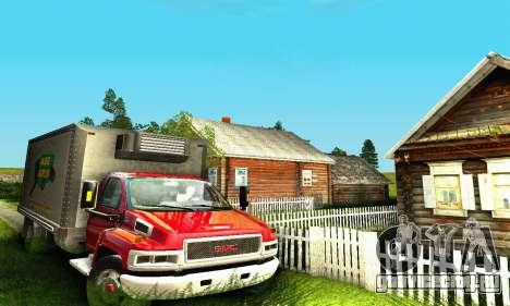GMC Top Kick C4500 Dryvan House Movers 2008 для GTA San Andreas вид справа