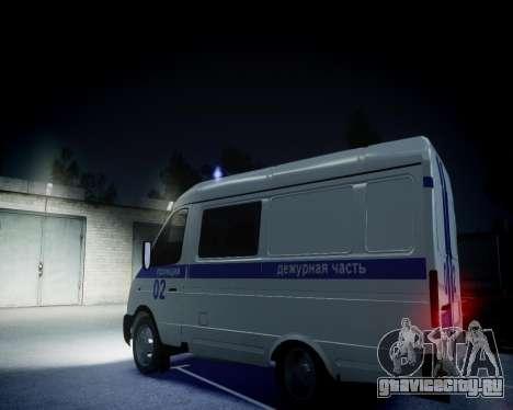 ГАЗель 2705 Полиция для GTA 4 вид изнутри