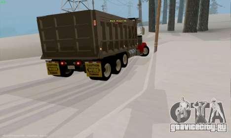 Peterbilt 379 Dump Truck для GTA San Andreas вид справа