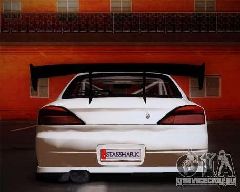 Nissan Silvia S15 JDM для GTA San Andreas вид сзади