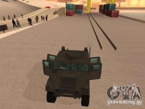 Hummer H1 из игры Resident Evil 5 для GTA San Andreas вид сбоку