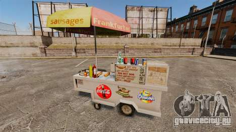 Новые текстуры хот-дог тележек для GTA 4