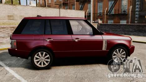 Range Rover Supercharged для GTA 4 вид слева