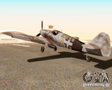 Bf-109 G10 для GTA San Andreas вид слева